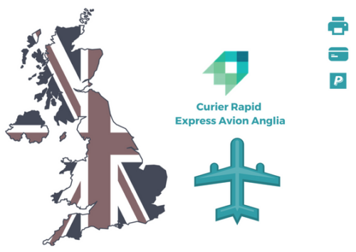Curier Rapid Anglia Express Avion