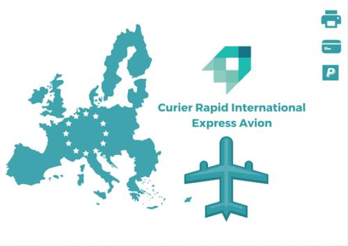 Curier Rapid Irlanda Express Avion
